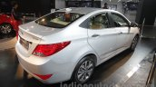 2016 Hyundai Verna rear three quarters right at Auto Expo 2016