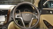 2016 Hyundai Verna steering wheel at Auto Expo 2016