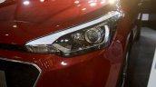 2016 Hyundai i20 headlamp close showcased at Make in India event