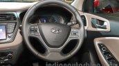 2016 Hyundai i20 steering wheel at the Auto Expo 2016