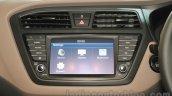 2016 Hyundai i20 touchscreen infotainment system at the Auto Expo 2016