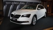 2016 Skoda Superb front three quarter launched in India