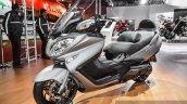 2016 Suzuki Burgman 650 Executive front quarter at Auto Expo 2016
