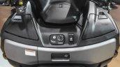 2016 Suzuki Burgman 650 Executive heated seats switch at Auto Expo 2016