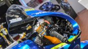 2016 Suzuki GSX-RR MotoGP bike clip-on handlebar at Auto Expo 2016