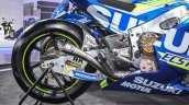 2016 Suzuki GSX-RR MotoGP bike exhaust at Auto Expo 2016