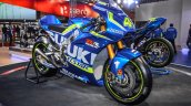 2016 Suzuki GSX-RR MotoGP bike front quarter at Auto Expo 2016