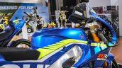 2016 Suzuki GSX-RR MotoGP bike handlebar guard at Auto Expo 2016