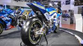 2016 Suzuki GSX-RR MotoGP bike rear quarter at Auto Expo 2016