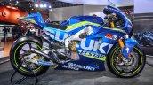 2016 Suzuki GSX-RR MotoGP bike side at Auto Expo 2016