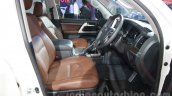 2016 Toyota Land Cruiser front seats at Auto Expo 2016