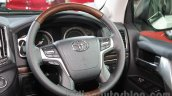 2016 Toyota Land Cruiser steering wheel at Auto Expo 2016