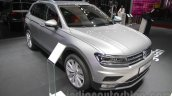 2016 VW Tiguan front three quarter at the Auto Expo 2016
