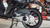 Aprilia SR 150 Black engine at Auto Expo 2016