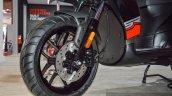 Aprilia SR 150 Black front disc brake at Auto Expo 2016
