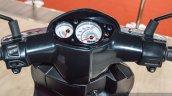Aprilia SR 150 Black speedometer at Auto Expo 2016