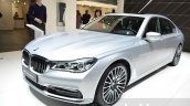 BMW 740Le iPerformance front three quarter at the 2016 Geneva Motor Show Live