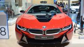BMW i8 Protonic Red Edition front at the 2016 Geneva Motor Show Live