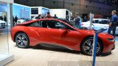 BMW i8 Protonic Red Edition side at the 2016 Geneva Motor Show Live