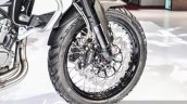 Benelli TRK 502 front tyre spoke wheel at Auto Expo 2016