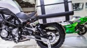 Benelli TRK 502 swingarm at Auto Expo 2016
