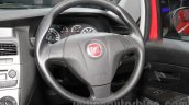 Fiat Punto Pure steering wheel at Auto Expo 2016