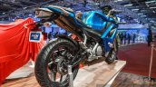 Hero HX250R blue rear quarter at Auto Expo 2016