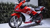 Hero Karizma ZMR red and white front quarter at Auto Expo 2016