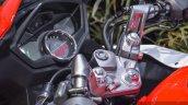 Hero Karizma ZMR red and white handlebars at Auto Expo 2016