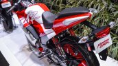 Hero Karizma ZMR red and white rear quarter at Auto Expo 2016