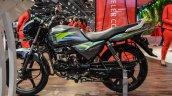 Hero Splendor Pro grey green black alloy wheels engine at Auto Expo 2016