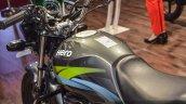 Hero Splendor Pro grey green fuel tank at Auto Expo 2016