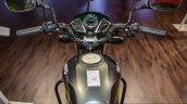 Hero Splendor Pro grey green rider view at Auto Expo 2016