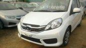 Honda Amaze facelift White bumper spied