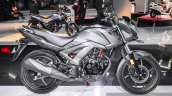 Honda CB Unicorn 160 Matt Grey side at Auto Expo 2016