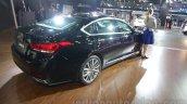 Hyundai Genesis rear three quarters right at Auto Expo 2016