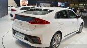 Hyundai Ioniq Hybrid rear three quarters at the 2016 Geneva Motor Show