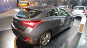 Hyundai i30 rear three quarters right at 2016 Auto Expo