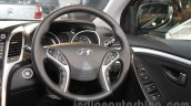Hyundai i30 steering wheel at 2016 Auto Expo