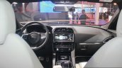 Jaguar F-Pace dashboard at the Auto Expo 2016