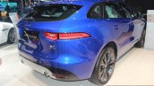 Jaguar F-Pace rear three quarter at the Auto Expo 2016