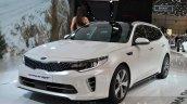 Kia Optima Sportswagon front quarter at the Geneva Motor Show Live