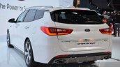 Kia Optima Sportswagon rear quarter at the Geneva Motor Show Live