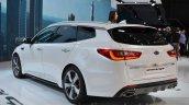 Kia Optima Sportswagon rear three quarter at the Geneva Motor Show Live