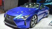 Lexus LC 500h front quarter unveiled at the 2016 Geneva Motor Show Live