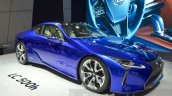 Lexus LC 500h front three quarter unveiled at the 2016 Geneva Motor Show Live
