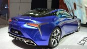 Lexus LC 500h rear quarter unveiled at the 2016 Geneva Motor Show Live