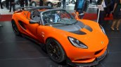 Lotus Elise Cup 250 front three quarter at the 2016 Geneva Motor Show Live