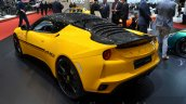 Lotus Evora Sport 410 rear three quarter at the 2016 Geneva Motor Show Live