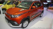 Mahindra KUV100 Xplorer edition front three quarters right at Auto Expo 2016